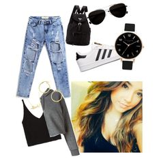 BeckyG's fashion by sudachikotarou on Polyvore featuring polyvore, fashion, style, Golden Goose, Zara, adidas, Prada, A B Davis, Olivia Burton, Minnie Grace and Calvin Klein