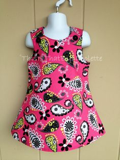 Pink paisley girls dress by ThisNThatByNicolette on Etsy,