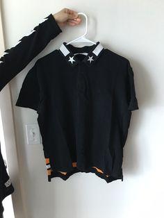 Givenchy Givenchy Polo Shirt Black Orange Star Size Xl $110 - Grailed
