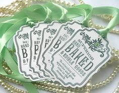 Superior Hand Baked Goods Novelty TAGS  Vintage Style by amaretto, $6.25