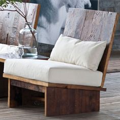 REDWOOD LOUNGE CHAIR With a deep, wide seat and a defining high back, the redwood chair is a stately as a centerpiece or accent seating. Offering cozy comfort with or without the included cushion and pillow. The redwood chair boast modern lines and a solid wood durability.: