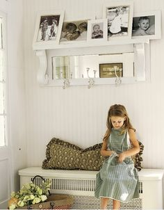 Cute entryway shelf/hooks with bench underneath - simple!!