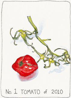 1st Tomato of 2010 by Jana Bouc, via Flickr