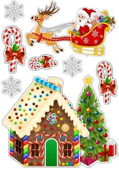Christmas Templates, Christmas Clipart, Christmas Stickers, Christmas Printables, Christmas Scenes, Christmas Art, Christmas Ornaments, Diy Birthday Decorations, Christmas Decorations