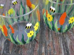 Here Comes Summer  Set of 2 Hand Painted by PaintedbytheShore, $12.50