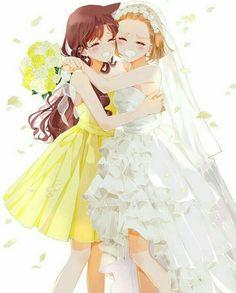arch_lapin detective_conan dress mouri_ran suzuki_sonoko wedding_dress Dc Anime, Kawaii Anime, Manga Anime, Conan Comics, Detektif Conan, Magic Kaito, Pretty Anime Girl, Anime Art Girl, Sherlock Holmes
