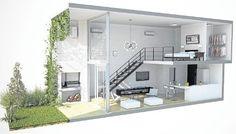 loft design 20 Ideas container house design layout loft for Wow, very nice. Loft Interior Design, Home Room Design, Loft Design, Small House Design, Modern House Design, Container Home Designs, Container Houses, Container Store, Tiny House Loft