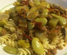 A Lima Bean Twist on Goulash – Andrea's Garden Cooking Stuffed Mushrooms, Cooking Lima Beans, Lima Bean Recipes, Goulash Recipes, Bean Casserole, Ground Beef, Pasta Salad, Food And Drink