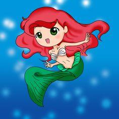 Chibi Ariel | ARIEL chibi mermaid ^___^ by Spiffy27
