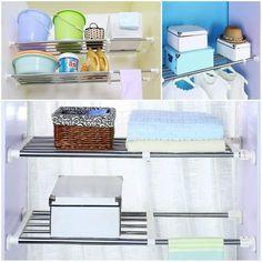 Expandable Storage Rack – Dealz Ninjaa Wardrobe Shelving, Closet Shelves, Extra Storage Space, Storage Spaces, Storage Rack, Storage Shelves, Diy Kitchen Storage, Rack Design, Kitchen Cupboards