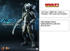 Hot Toys AvP : Scar Predator  PO Price US$172  Deadline 02 Januari 2013  ETA Q2 2013