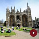 Peterborough Cathedral is the resting place of Katherine of Aargon, King Henry VIII's first wife. Loved this cathedral so much we visited it a few times.