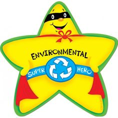 Environmental Super Hero Stickers CTP4624