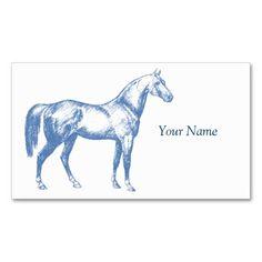 Blue Horse Veterinarian Business Card