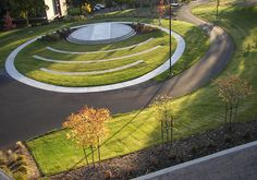 CGCC Amphitheater situated to optimize views of Mt. Adams and the Gorge, Columbia Gorge Community College's central campus in The Dalles, Oregon by Lango Hansen Landscape Architects