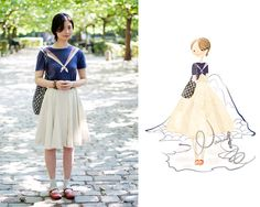 Vintage navy style. (by Nancy Zhang) http://lookbook.nu/look/2364161-Vintage-navy-style