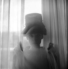 {Audrey through the curtain} photo by Cecil Beaton 1960