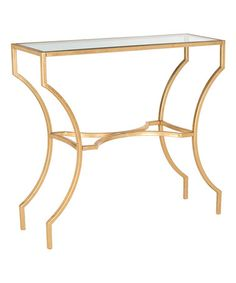 Look what I found on #zulily! Gold William Glass-Top Console Table #zulilyfinds