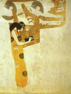 Longing for Happiness by Gustav Klimt from the Beethoven frieze