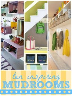 Organized Mudroom Inspiration | remodelaholic.com #organized #mudroom #dropzone @Remodelaholic .com .com
