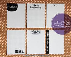 Liz Lemon Project Life Freebie! by Caitidid Designs, via Flickr