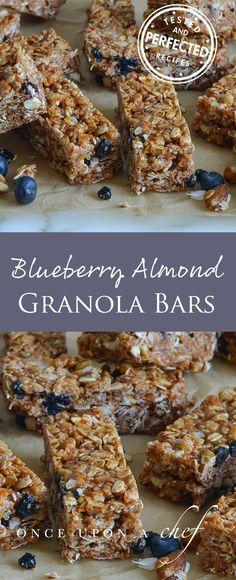 Blueberry Almond Granola Bars