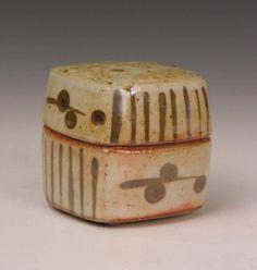 Ceramics by Phil Rogers at Studiopottery.co.uk - Box with shino glaze, 2007.
