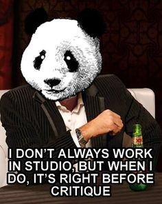 As we near the final stretch of the semester, this little gem from the Printmaking Panda seemed appropriate.