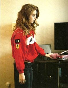 Lana Del Rey in a Ferrari jacket!