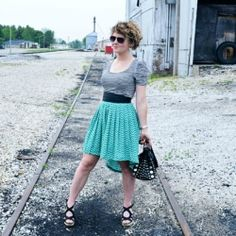 See how to make a high-low skirt from a thrifted maxi skirt!