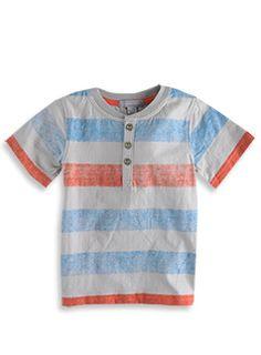 Pumpkin Patch - tee shirt - printed stripe grandpa tee - S2TB11043 - fire engine red - 6-12mths to 5
