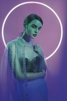 Ali Michael by Petra Collins for Oyster Colored lights : purple and green on fashion portrait. Angelic and cold looking photography. Ali Michael, Petra Collins, Editorial Photography, Portrait Photography, Fashion Photography, Neon Photography, Photography Ideas, Spring Photography, Photography Filters