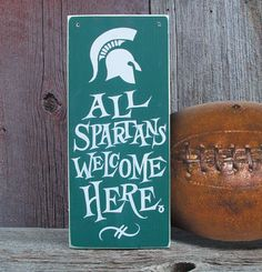 All Spartans Welcome MSU Spartans by stevenssigns on Etsy
