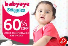 BabyOye offers Sankranti festive collection UPTO 40% off + 10% EXTRA off on Rs. 1000 and Above.  http://www.paisebachaoindia.com/get-60-off-on-cute-and-comfortable-baby-wear-babyoye/