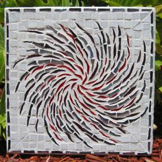 Hey, I found this really awesome Etsy listing at https://www.etsy.com/listing/11791654/whirl-glass-mosaic-wall-art-shimmery-red