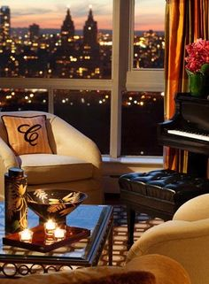 Relax and enjoy the view in the Tower Suite, while staying at The Carlyle, A Rosewood Hotel in New York