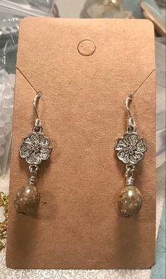 Jasper, Autumn, Drop Earrings, Floral, Handmade, Jewelry, Hand Made, Jewlery, Fall Season