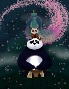 Kung Fu Panda in art Dreamworks Movies, Dreamworks Animation, Disney And Dreamworks, Disney Pixar, Master Shifu, Panda Bebe, Kung Fu Panda 3, Panda Wallpapers, Cute Coloring Pages