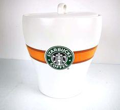 Starbucks Coffee Jar Mermaid Ceramic 7 inch Canister Jar Lid Bean Check It Out Starbucks Coffee Beans, Starbucks Green, Coffee Jars, Starbucks Logo, Coffee Canister, Fresh Coffee, Hot Coffee, Filter Coffee Machine, Jar Lids