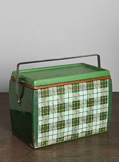 Fun plaid vintage cooler