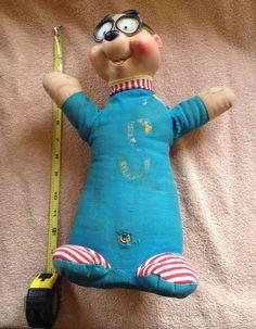 "Super Ideal RARE Vintage 1963 Alvin & Chipmunks Simon 14"" Ross Bagdasarian Doll by ThisChicksJewels on Etsy"