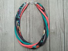 Short Necklaces – Textile necklace, fabric jewelry – a unique product by Pracownia-Zolla on DaWanda