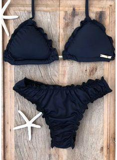 Biquíni ripple fechado preto - 1235 - biquinis poliana finzetto roupas в 20 Summer Bathing Suits, Cute Bathing Suits, Cute Swimsuits, Cute Bikinis, Beachwear Fashion, Bikini Fashion, Calvin Klein Outfits, Bikini Inspiration, Bikini Outfits