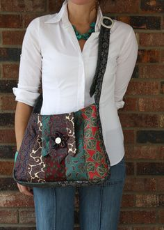 Paisley Vintage Necktie Purse by HiButterfly on Etsy