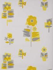 Floral (70s?) wallpaper, seen on frou-frou.dk