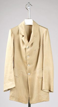 Frock coat, Date: ca. 1855 Culture: American Medium: linen
