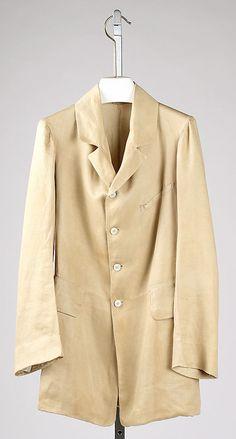 Frock coat, Date: ca. 1855 Culture: American Medium: linen