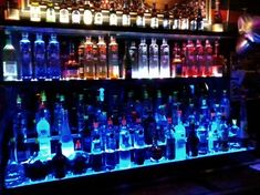 Liquor Bottle Display using Multicolored LED Lighting