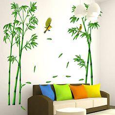 Botanisk+Veggklistremerker+Fly+vægklistermærker+Dekorative+Mur+Klistermærker+Materiale+Kan+fjernes+Hjem+Dekor+Veggoverføringsbilde+–+NOK+kr.+1.075