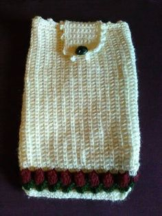Crochet wool tablet Cover white tablet di JustForYouhm su Etsy